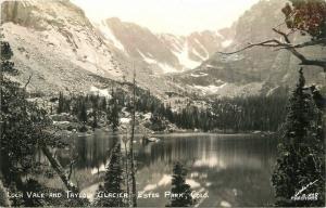 1940s Estes Park Colorado Loch Vale Taylor Glacier Sanborn RPPC 7176