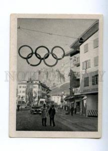 166959 Olympic Games CORTINA d'Ampezzo Garage CIGARETTE card