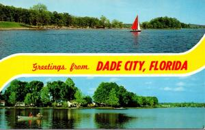 Florida Greetings From Dade City Sailing and Fishing Scene