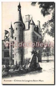 Postcard Old Agonges Castle Laug?res St. Mark
