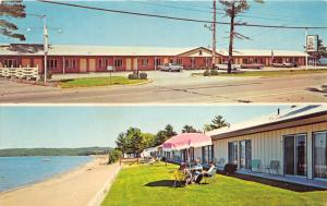 Traverse City Michigan~Reef Motel on US 31N~2 Views~Roadside~1950s Pc