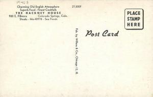 Colorado Springs Colorado Hackney House Willens 1940s Postcard 13537
