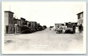 Miller SD~North Broadway~Hotel~Princess Theatre~Pool Hall~Woody~Cars~1947 RPPC