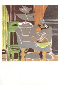 Georges Braque La Palatte French Private Collection Old Painting Postcard