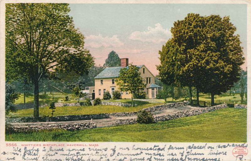 Whittier's Birthplace at Haverhill MA, Massachusetts - pm 1907 - UDB - Det Photo