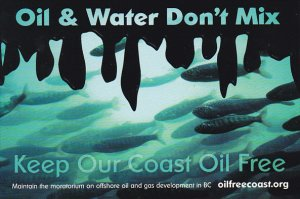 Oil & Water Don't Mix Oil Free Coast Alliance Ottawa Ontario Canada