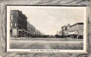 Watertown South Dakota North Oak Street Antique Postcard J48752