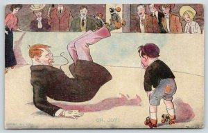 Brill~Roller Rink Skating~Oh, Joy! Fussy Man Falls~Boy Snickers~1907 R Hill