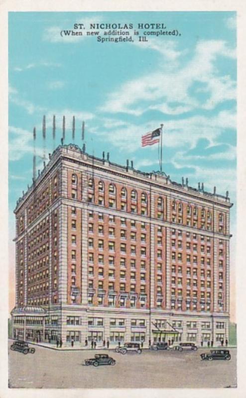 Illinois Springfield St Nicholas Hotel 1941