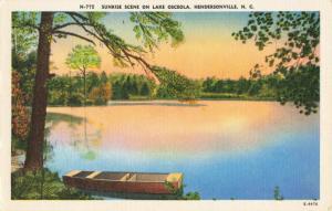 Postcard Sunrise Lake Osceola Hendersonville North Carolina