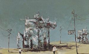 Morris Katz Painting    Fantasy Island