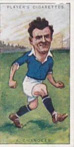 Players Vintage Cigarette Card Footballers Caricatures RIP 1926 No 7 A Chandler