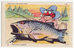 P909 comic card come on up-fishing great, this is only a minnow