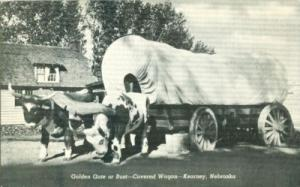 Golden Gate or Bust, Covered Wagon, Kearney, Nebraska unu...
