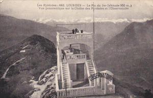 France Lourdes Le Pic du Jer Vue panoramique sur la Chaine des Pyrenees et l'...