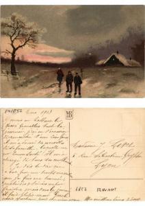 CPA Die Natur im Winterkleid Meissner & Buch Litho Serie 1852 (730464)