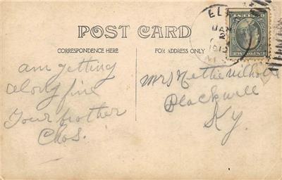 RPPC Governors' Mansion CARSON CITY Nevada 1913 Vintage Photo Postcard