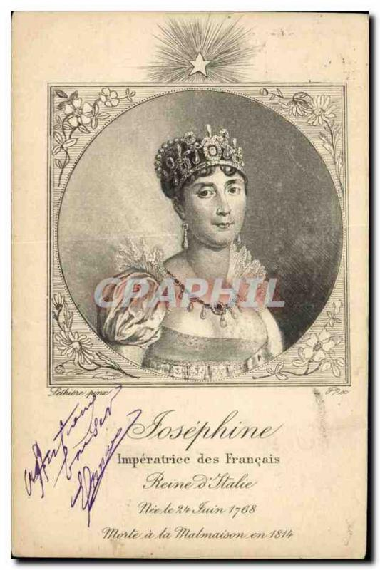 VINTAGE POSTCARD Josephine Empress of the French Queen of It
