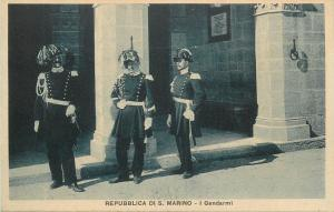 Republica di San Marino I Gendarmi policemen uniforms vintage postcard