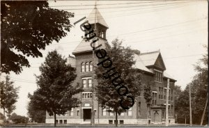 Real Photo Fayetteville High School Building Fayetteville NY New York RP D164