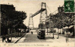 CPA ROUEN Le Boulevard Cauchoix et le Pont Transbordeur (416400)