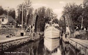 Forsvik Sweden Gota Canal Lock Real Photo Antique Postcard J49489