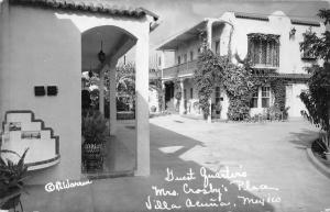 Villa Acuna Coah. Mexico guest quarters Mrs Crosbys Place real photo pc Y11132