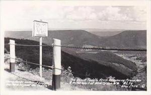 West Virginia New Creek The Devils Saddle from Alleghany Front Mt Real Photo