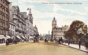 Vintage Scotland Postcard, Princess Street & National Gallery, Edinburgh W79