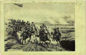 CPA MILITAIRE Charge de cavalerie (316443)