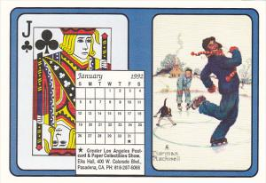 1992 Playing Card Calendar Series January