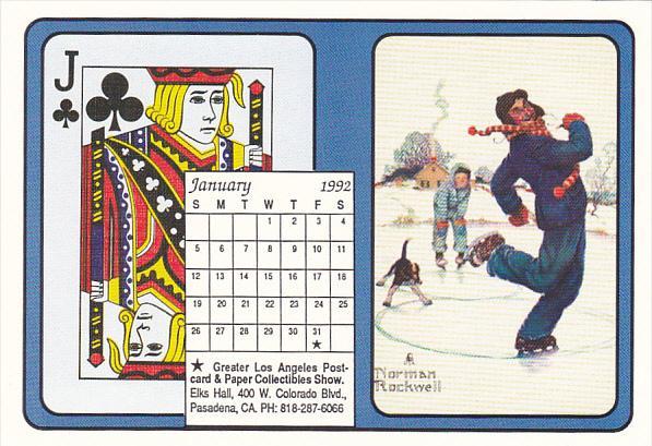 1992 Playing Card Calendar Series January