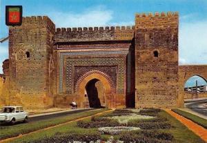 Morocco Meknes Vista de Bab Lakhmis Voiture Care, Street Gate