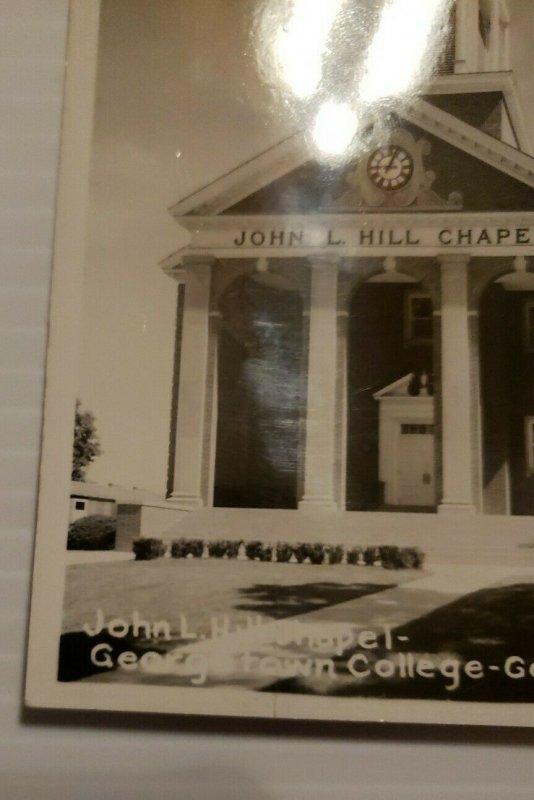 Georgetown Kentucky John L Hill Chapel Georgetown College VTG Postcard   558
