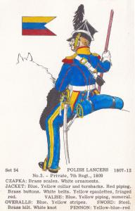 Polish Lancers Private 7th Regiment Napoleonic War Uniform PB Postcard