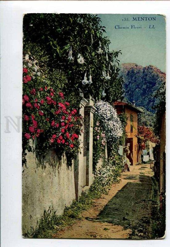3079847 FRANCE Menton Chemin Fleuri Vintage PC