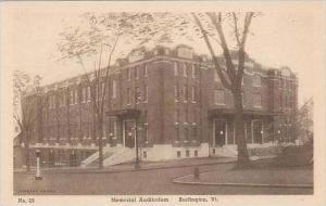 Vermont Burlington Memorial Auditorium Albertype