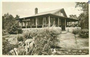 Pigeon Cove Massachusetts Paper House 1930s RPPC Photo Postcard 21-4566