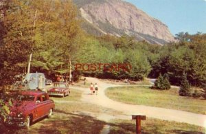 LAFAYETTE CAMPGROUND, FRANCONIA NOTCH, N. H. State camping area at Profile Mt.