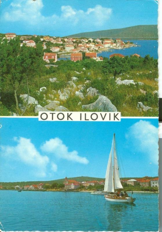 Croatia, Otok Ilovik, used Postcard