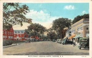 LPS44 Durham New Hampshire Main Street looking North Vintage Postcard