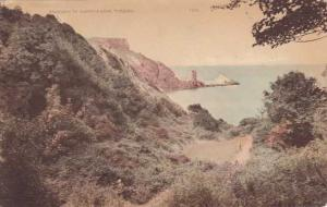 Approach to Anstey's Cove - Torquay, Devon, England - pm 1927 - DB
