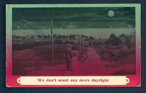 'We don't want any more daylight' smiling moon unused c1910