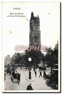 Paris - 4 - Tour Saint Jacques - Old Postcard