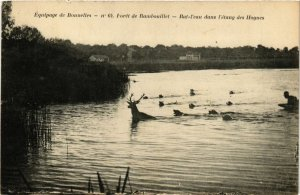 CPA Equipage de BONNELLES - Foret de RAMBOUILLET - Bat-l'eau dans (246943)