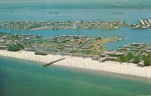 Florida Clearwater Beach Aerial View Showing Palm Pavilion Beach & Pier
