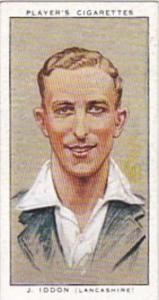Player Vintage Cigarette Card Cricketers 1934 No 14 J Iddon
