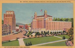 Arkansas Hot Springs Central Avenue Showing Medical Arts Building and Arlingt...