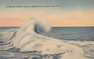 New Jersey Asbury Park A Majestic Breaker From The Mighty Deep
