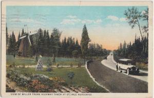 Minnesota Mn Postcard 1934 CHISOLM Stenle Nursery Bus Windmill